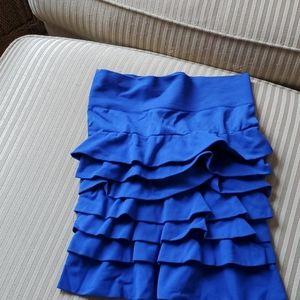 Spandex mini skirt